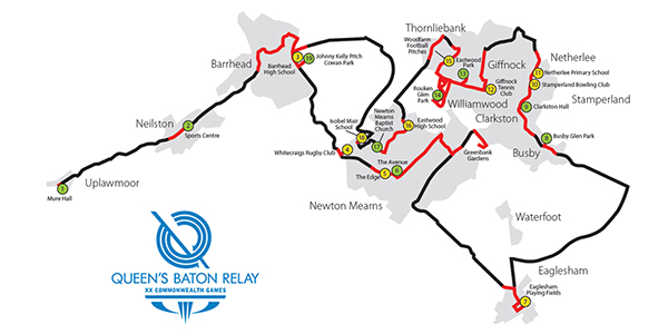 ERC-Queens Baton Relay 2014