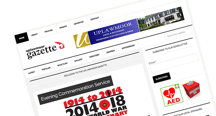 Uplawmoor Gazette New Features